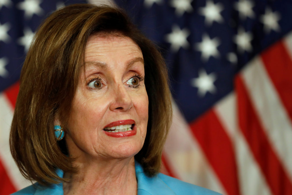 After edited Pelosi video, how should social media companies respond? Photo by REUTERS/Yuri Gripas