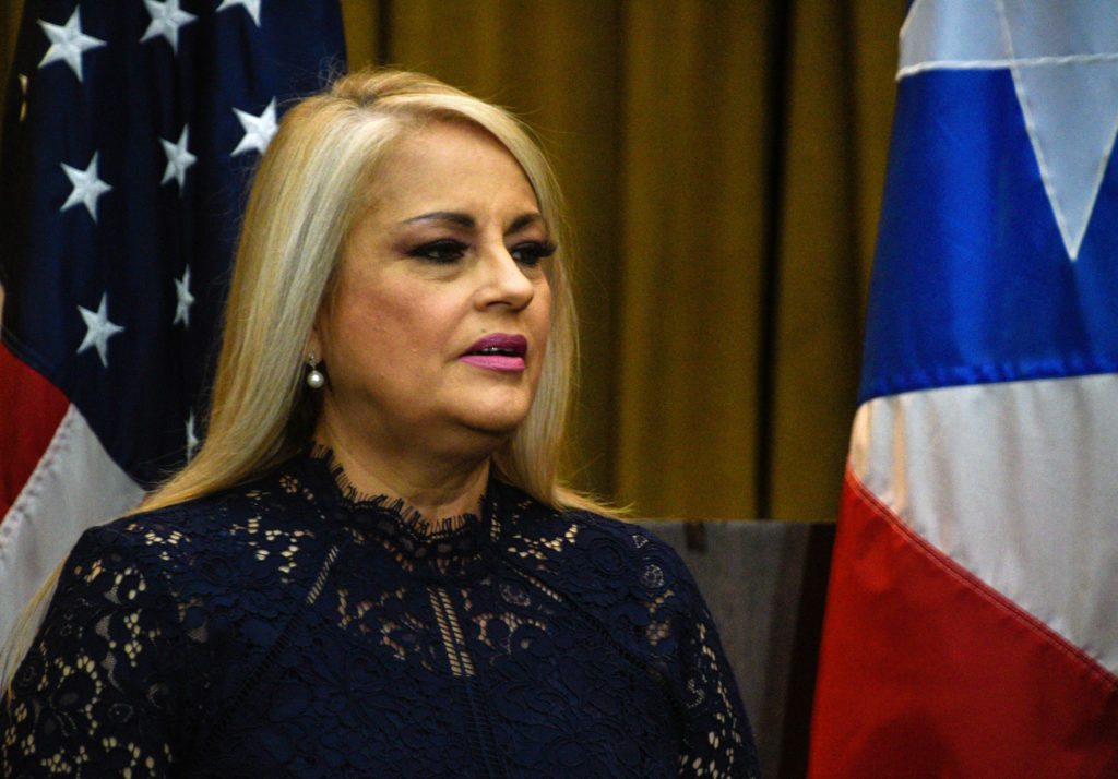 Wanda Vazquez, former Secretary of Justice, is sworn in as Governor…