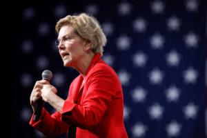FILE PHOTO: 2020 Democratic U.S. presidential candidate and U.S. Senator Elizabeth Warren speaks during the Presidential Gun Sense Forum in Des Moines, Iowa, on August 10, 2019. Photo by Scott Morgan/Reuters