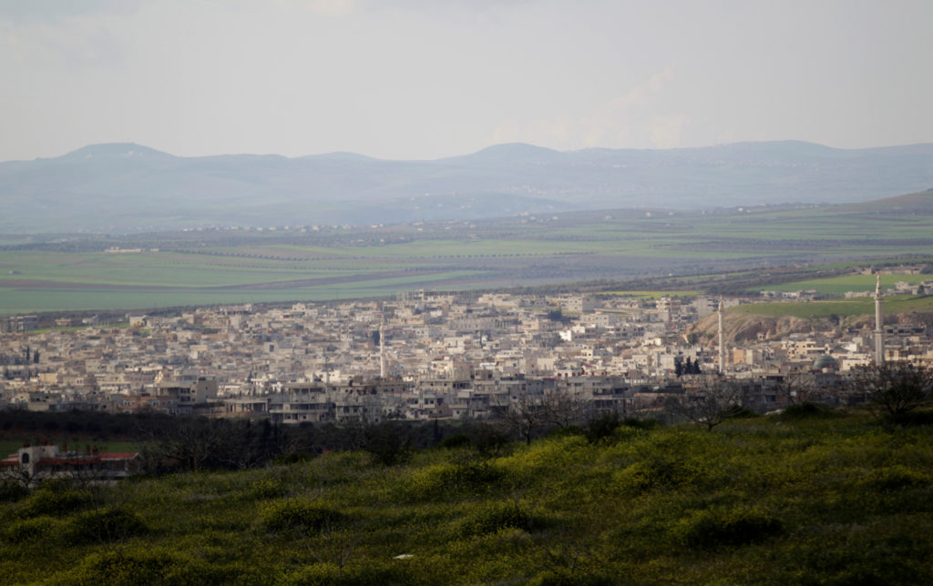 FILE PHOTO: A general view shows Khan Sheikhoun in the southern cou…