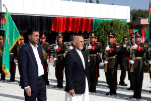 Afghan President Ashraf Ghani attends Afghan Independence Day celebrations in Kabul, Afghanistan on August 19, 2019. Photo courtesy: Afghan Presidential Palace/Handout via Reuters