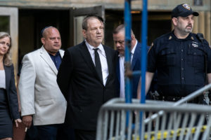 Film producer Harvey Weinstein leaves New York Supreme Court after his arraignment in his sexual assault case in New York, on August 26, 2019. Photo by Jeenah Moon/Reuters