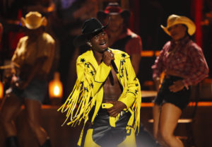 Lil Nas X performs at the 2019 BET Awards in Los Angeles, June 23, 2019 Photo by REUTERS/Mike Blake