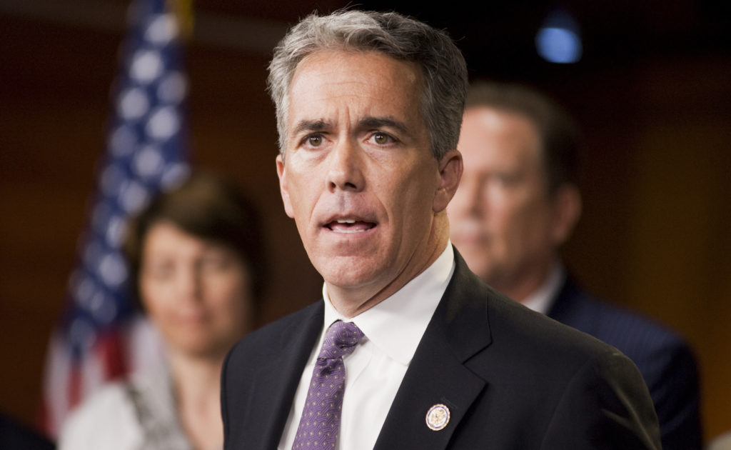 Rep. Joe Walsh, R-Ill., speaks at a news conference. (Photo By Tom Williams/Roll Call)