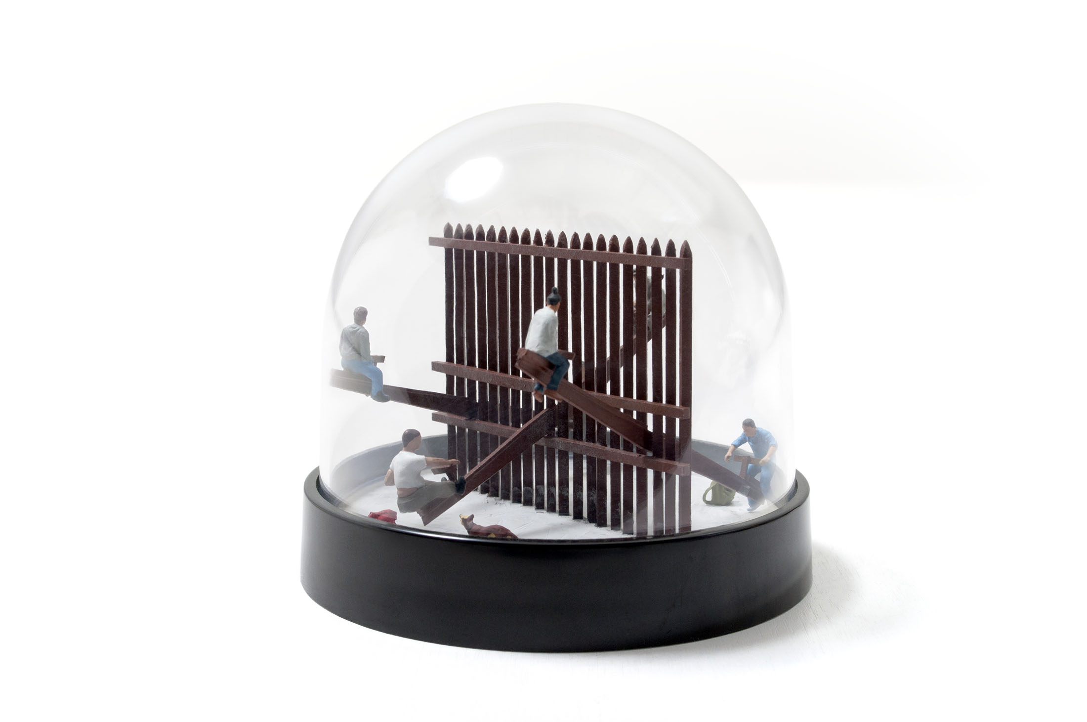 A conceptual snow globe rendition of the