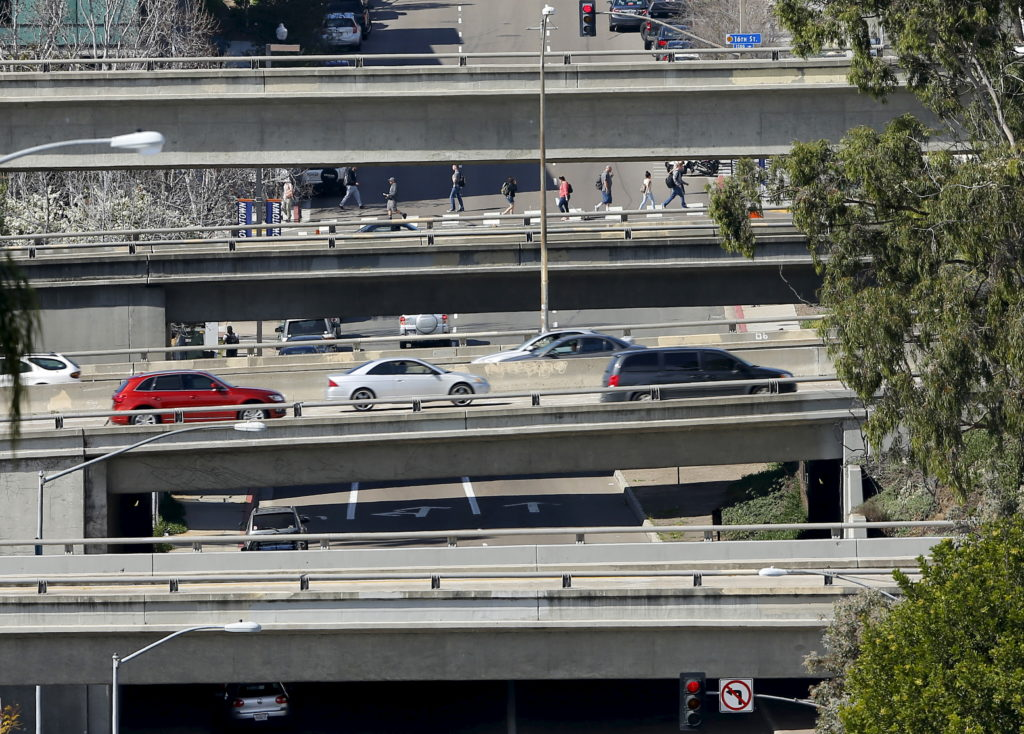 City streets and highway overpasses are shown in San Diego, California February 10, 2016. Picture taken February 10. Photo by Mike Blake/Reuters