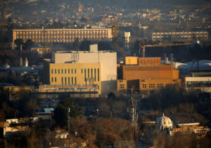 FILE PHOTO - View of the U.S. Embassy (front buildings) in Kabul, Afghanistan, January 20, 2016. Photo by Omar Sobhani/Reuters