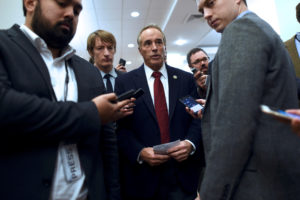 "FILE PHOTO: U.S. Representative Chris Collins is interviewed during the 2017 ""Congress of Tomorrow"" Joint Republican Issues Conference in Philadelphia, Pennsylvania, U.S. January 25, 2017. Photo by Mark Makela/Reuters"