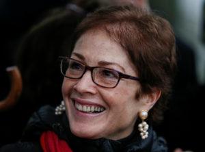 U.S. Ambassador to Ukraine Marie Louise Yovanovitch is seen during a ceremony to mark World AIDS Day in Kiev, Ukraine December 1, 2017. Photo by REUTERS/Gleb Garanich
