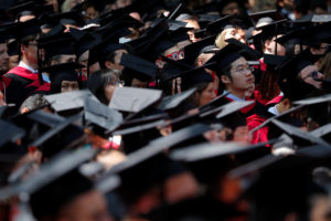 Students attend the 367th Commencement Exercises at Harvard University in Cambridge, Massachusetts, U.S., May 24, 2018. Photo by Brian Snyder/Reuters
