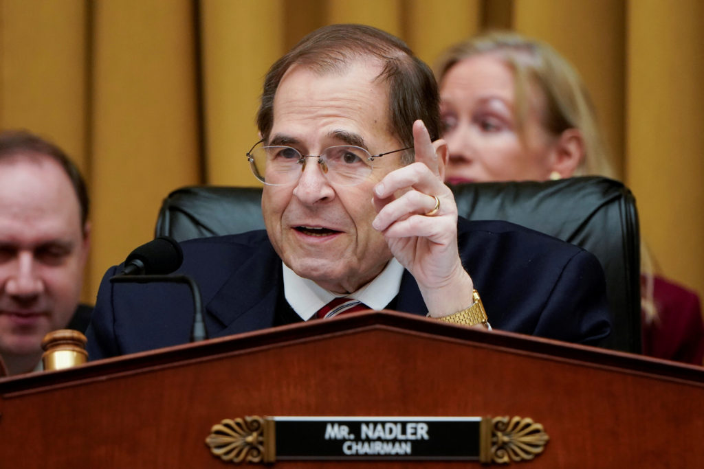 FILE PHOTO: Chairman of the House Judiciary Committee Jerrold Nadler speaks in Washington, U.S., March 26, 2019. Photo by: Joshua Roberts/File Photo/Reuters