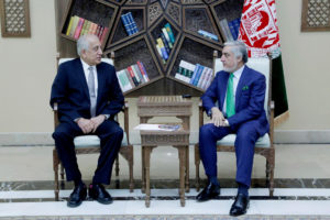 U.S. special representative for Afghanistan, Zalmay Khalilzad (L), meets with Afghanistan Chief Executive Abdullah Abdullah in Kabul, Afghanistan on September 2, 2019. Photo courtesy: Afghan Chief Executive office/Handout via Reuters