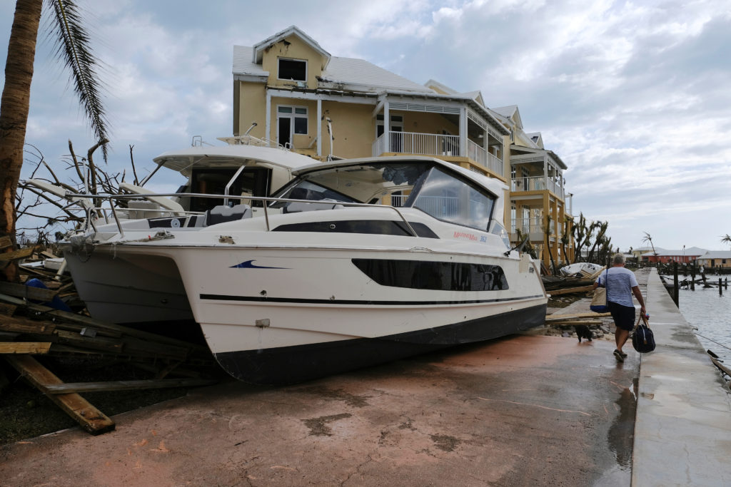 Damage in the aftermath of Hurricane Dorian on the Great Abaco island town of Marsh Harbour, Bahamas, September 4, 2019. Photo by Dante Carrer/Reuters