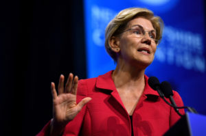 Democratic 2020 U.S. presidential candidate and U.S. Senator Elizabeth Warren (D-MA) speaks at the New Hampshire Democratic Party state convention in Manchester, New Hampshire, on September 7, 2019. Photo by Gretchen Ertl/Reuters