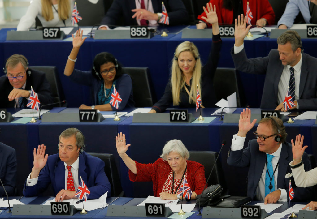 EU lawmakers vote to approve Brexit delay if UK requests one