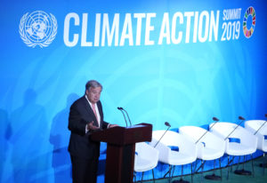 United Nations Secretary General Antonio Guterres speaks during the opening of the 2019 United Nations Climate Action Summit at U.N. headquarters in New York City, New York, U.S., September 23, 2019. REUTERS/Carlo Allegri