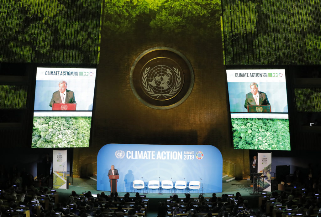United Nations Secretary General Antonio Guterres speaks during the opening of the 2019 United Nations Climate Action Summit at U.N. headquarters in New York City, New York, U.S., September 23, 2019. Photo by Lucas Jackson/Reuters