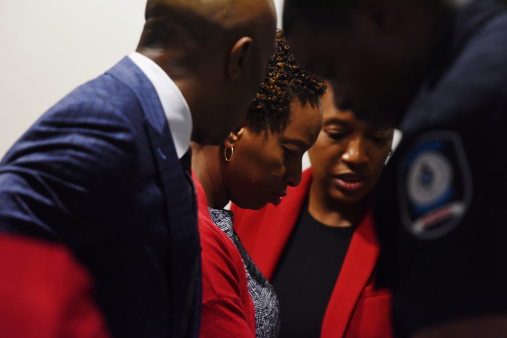 Botham Jean's family arrives on the first day of the trial against former Dallas police officer Amber Guyger, who is charged in the killing of Botham Jean in his own home, in Dallas, Texas, U.S., September 23, 2019. Photo by Jeremy Lock/Reuters