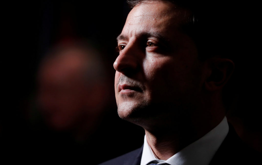 Ukraine's President Volodymyr Zelenskiy attends a luncheon for world leaders at the 74th session of the United Nations Gen...