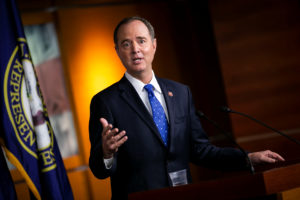 U.S. House Intelligence Committee Chairman Adam Schiff (D-CA) speaks during a news conference about impeachment proceedings at the U.S. Capitol in Washington, U.S., September 25, 2019. Photo by Al Drago/Reuters