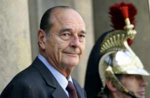 French President Jacques Chirac waits for the arrival of a guest at the Elysee Palace in Paris, France, October 4, 2004. Photo by Charles Platiau/Reuters