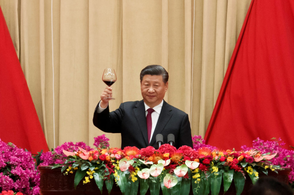 Chinese President Xi Jinping attends a reception at the Great Hall …