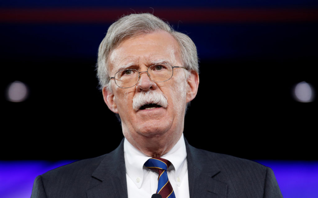 Former U.S. Ambassador to the United Nations John Bolton speaks at the Conservative Political Action Conference (CPAC) in Oxon Hill, Maryland, U.S. February 24, 2017. Photo by Joshua Roberts/Reuters.