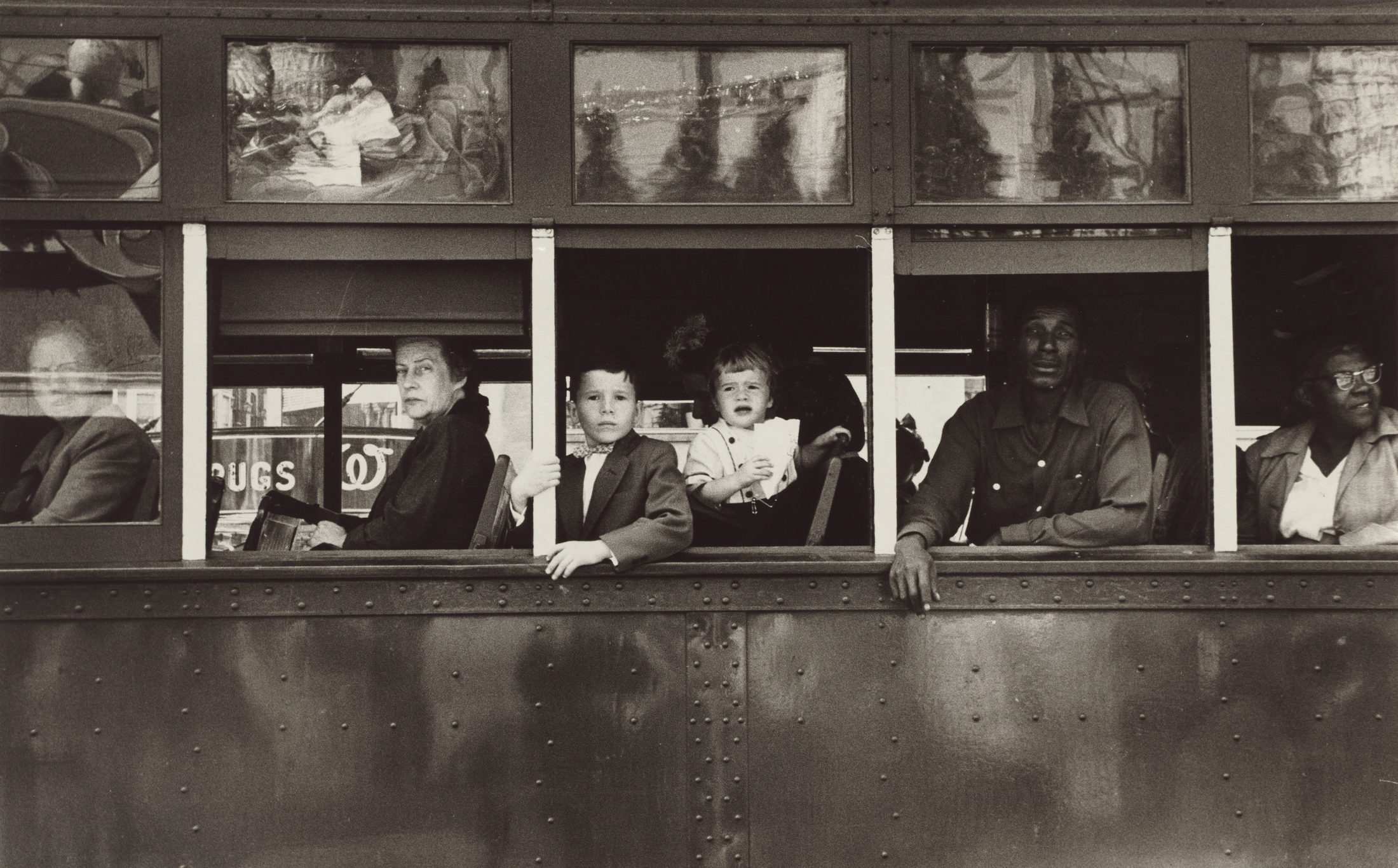 """Trolley—New Orleans,"" (1955) by Robert Frank, from ""The Americans"" Photo courtesy of National Gallery of Art"