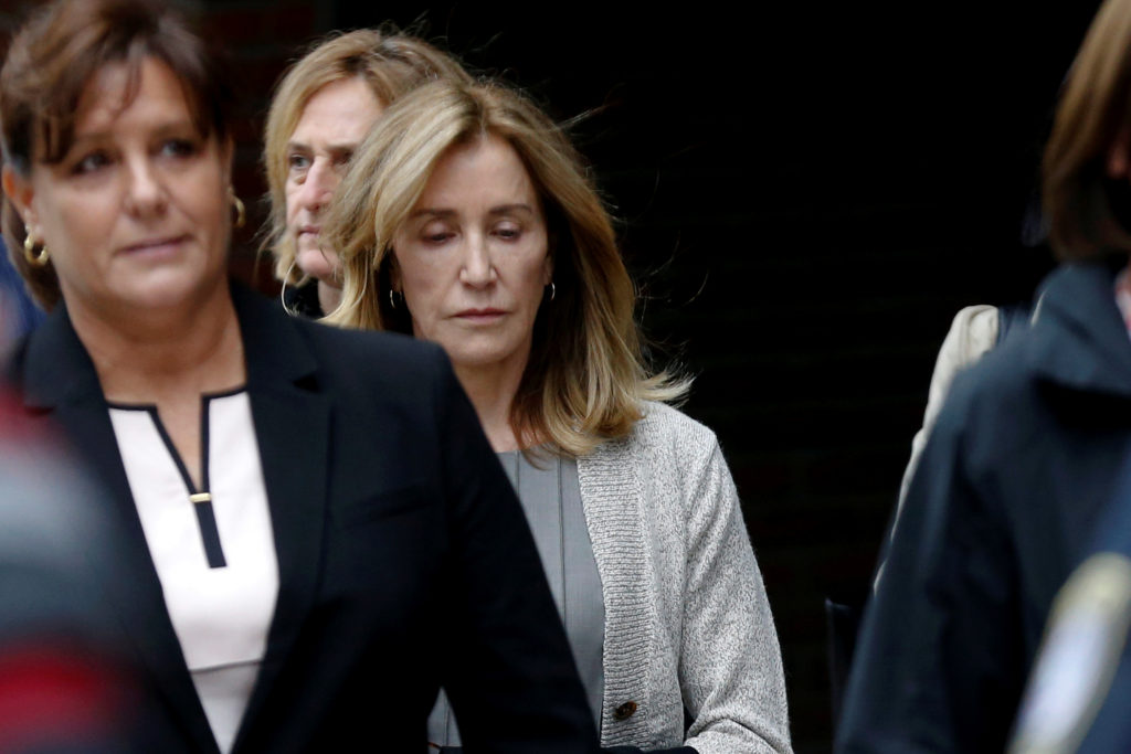 Judgment day for Felicity Huffman, facing possible prison for college admissions scam
