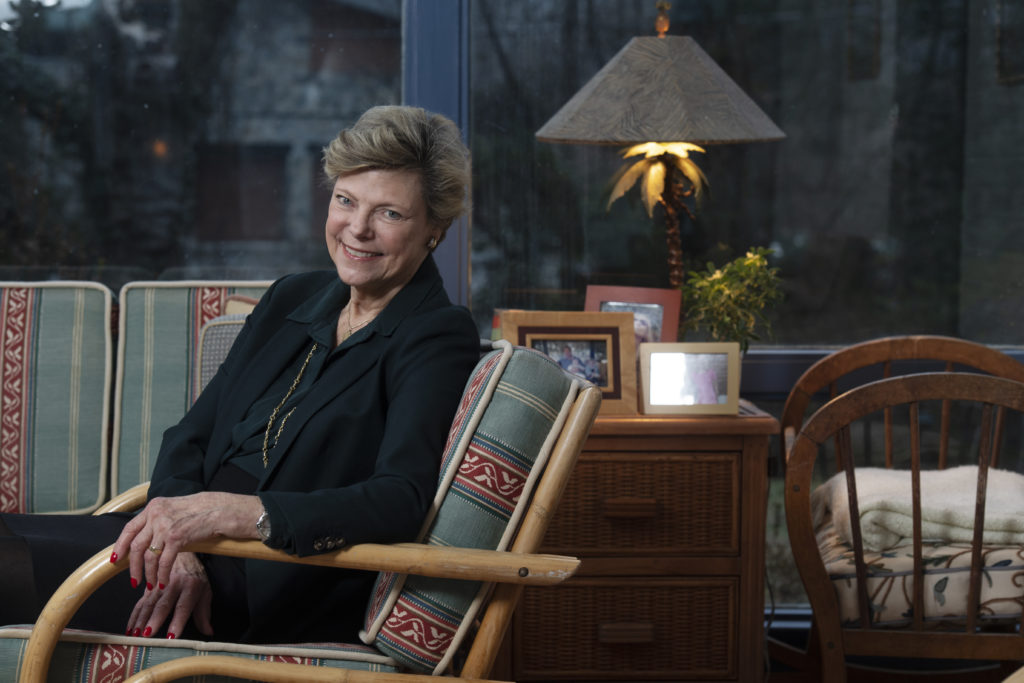 Journalist and author Cokie Roberts photographed in her home in Bethesda, Maryland on February 05, 2019. (Photo by Marvin Joseph/The Washington Post via Getty Images)