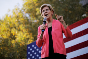 Democratic 2020 U.S. presidential candidate and U.S. Senator Elizabeth Warren (D-MA) speaks at a campaign rally at Keene State College in Keene, New Hampshire, U.S., September 25, 2019. REUTERS/Brian Snyder - RC1A90010A40