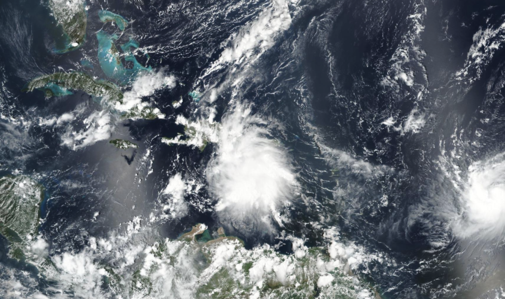 Tropical Storm Karen threatens Puerto Rico on in this satellite image from Sep. 24, 2019.