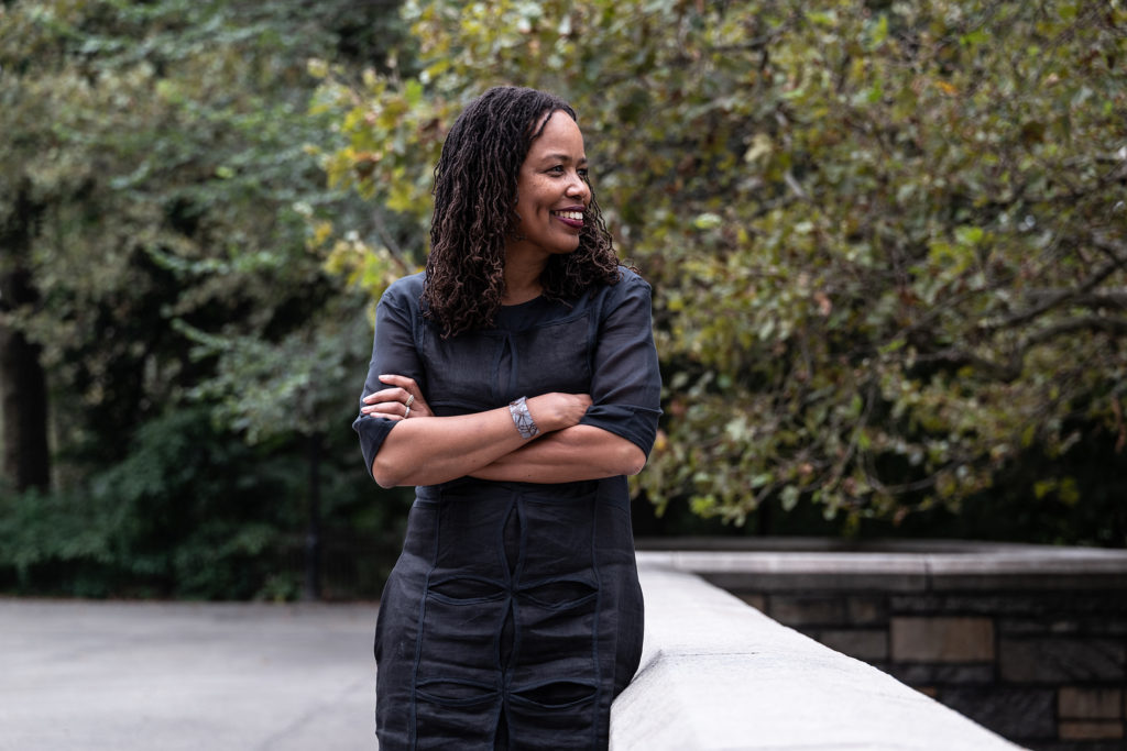 Photo of 2019 MacArthur fellow Saidiya Hartman. literary scholar and cultural historian. Photo provided by the MacArthur Foundation