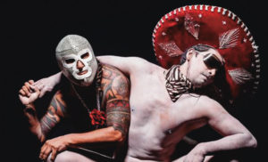 "Two members of the performance art troupe La Pocha Nostra in a sample photo of the aesthetic of their upcoming performance, ""Enchilada Western: A Living Museum of Fetishized Identities."" Courtesy La Pocha Nostra Archives"