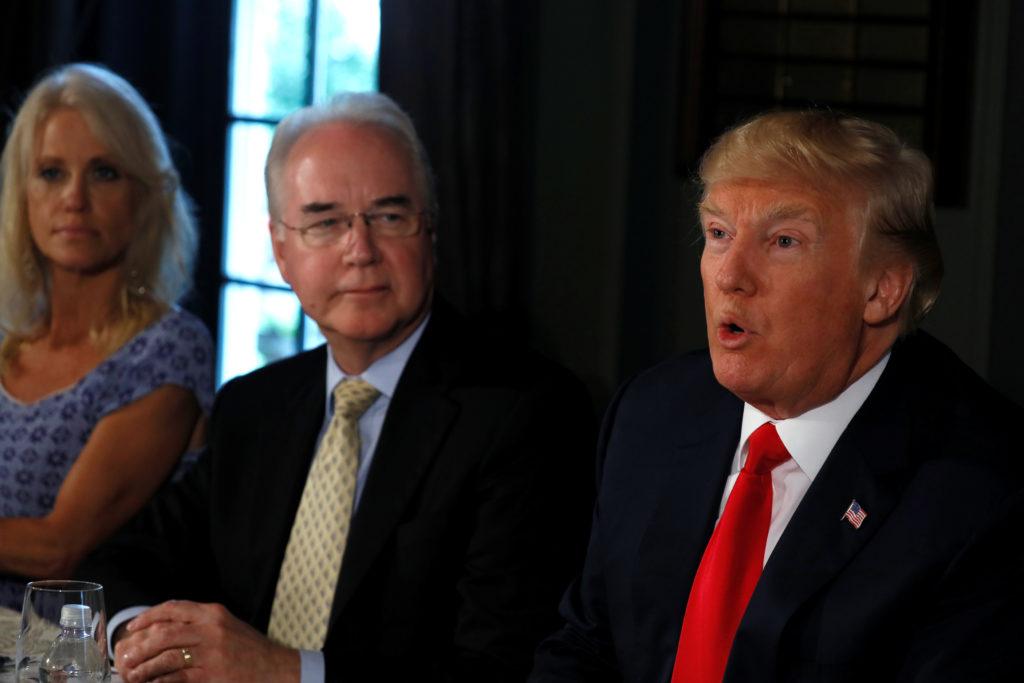 FILE PHOTO: U.S. President Donald Trump delivers remarks to reporte…