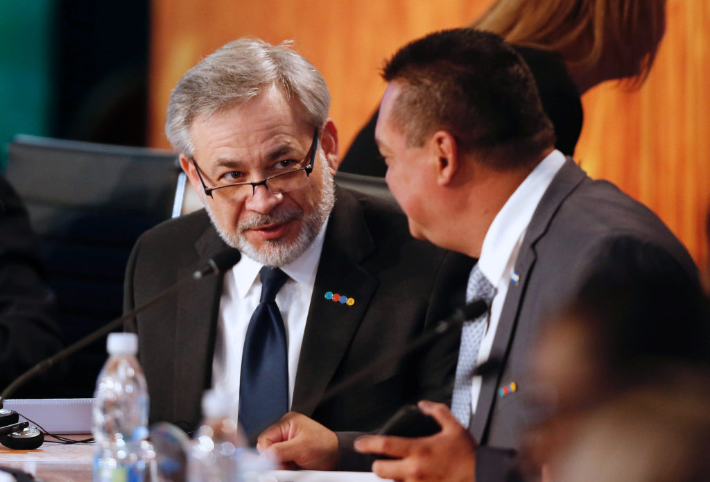 "Deputy Secretary of the U.S. Department of Energy Dan Brouillette (L) attends a meeting of the ""Energy and Climate Partnership of the Americas"" (III ECPA) in Vina del Mar, Chile, September 7, 2017 Photo by Rodrigo Garrido/Reuters"