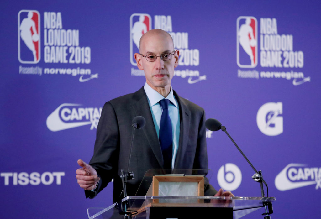 Commissioner of the NBA Adam Silver during a press conference on Jan. 17, 2019. Photo by Reuters/Andrew Boyers