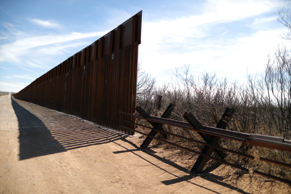 New bollard-style U.S.-Mexico border fencing is seen next to vehicle barriers in Santa Teresa, New Mexico, U.S., March 5, 2019. Photo by Lucy Nicholson/Reuters