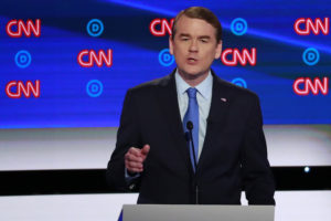 U.S. Senator Michael Bennet speaks on the second night of the second 2020 Democratic U.S. presidential debate in Detroit, Michigan, July 31, 2019. Photo by Lucas Jackson/Reuters