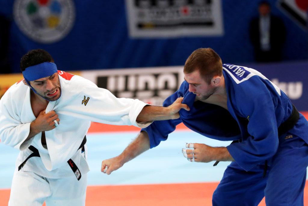 Judo - World Judo Championships - Men's Under 81 kg - Nippon Budokan, Tokyo, Japan - August 28, 2019 - Iran's Saeid Mollae...