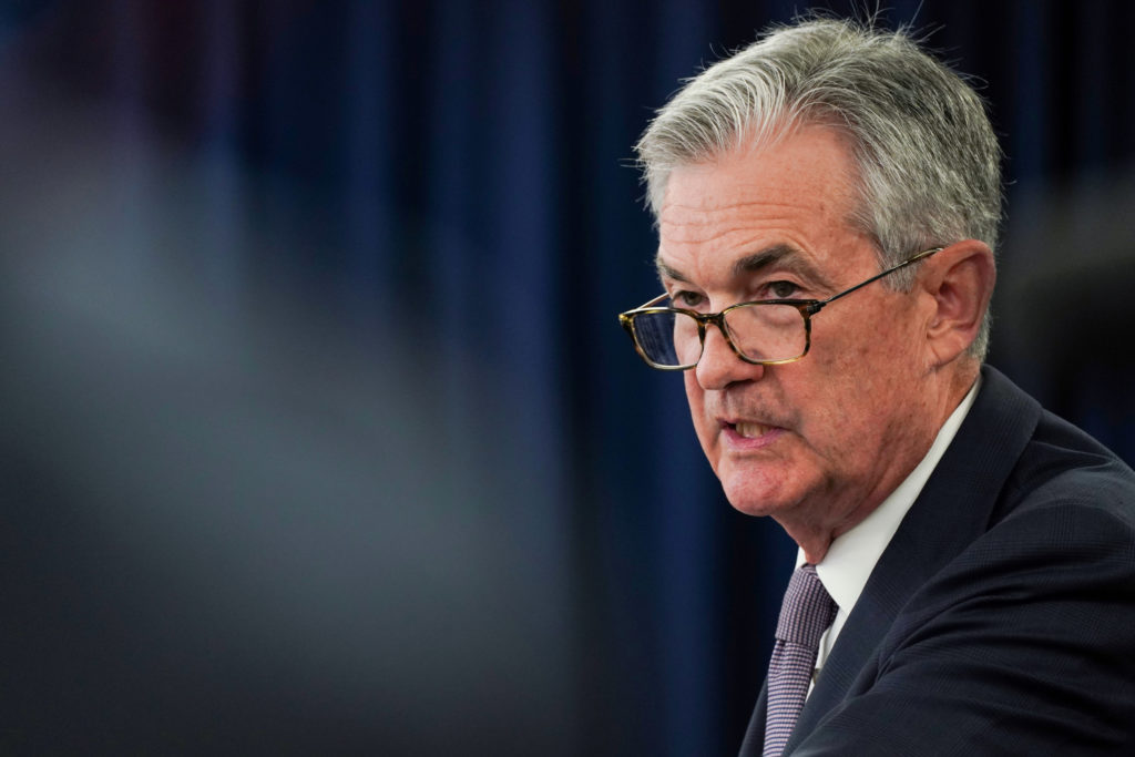 Federal Reserve Chairman Jerome Powell holds a news conference following a closed two-day Federal Open Market Committee meeting in Washington, U.S., September 18, 2019. Photo by Sarah Silbiger/Reuters