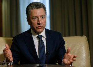 FILE PHOTO - Kurt Volker, former United States Special Representative for Ukraine Negotiations, during an interview in Kiev, Ukraine October 28, 2017. Photo by Valentyn Ogirenko/Reuters