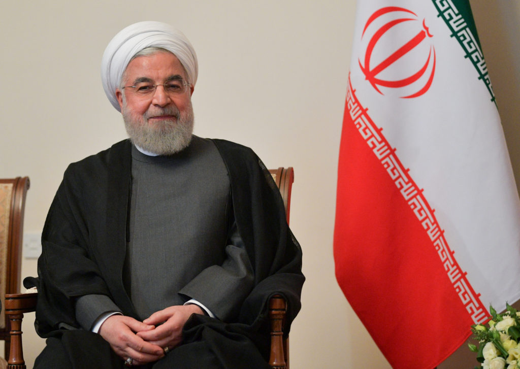 Iranian President Hassan Rouhani attends a meeting with Russian Pre…