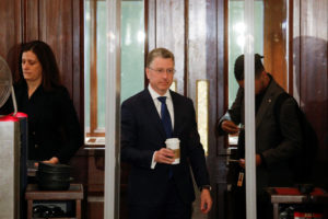 Kurt Volker, President Donald Trump's former envoy to Ukraine arrives at the U.S. Capitol to be interviewed by staff for three U.S. House of Representatives committees as part of the impeachment inquiry into the president's dealings with Ukraine, in Washington, U.S., October 3, 2019. Photo by Tom Brenner/Reuters