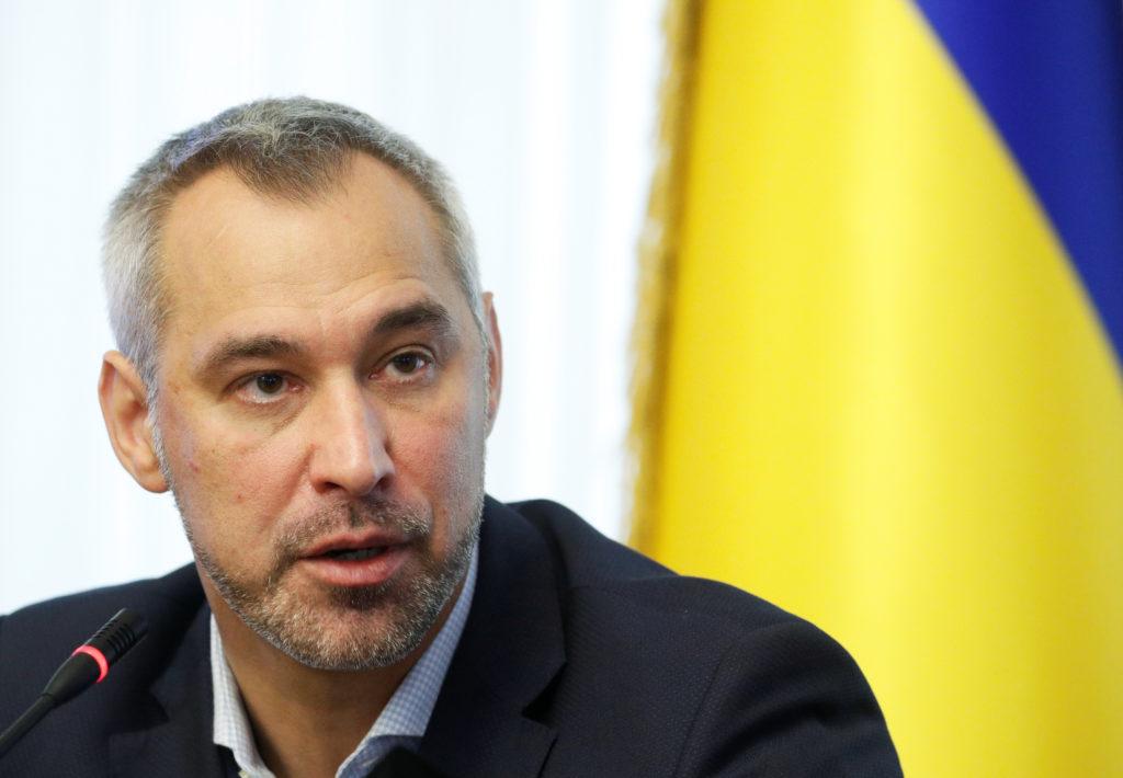Ukraine's Prosecutor General Ruslan Ryaboshapka speaks during a new…