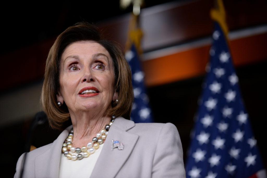 U.S. House Speaker Nancy Pelosi speaks during a news conference on …