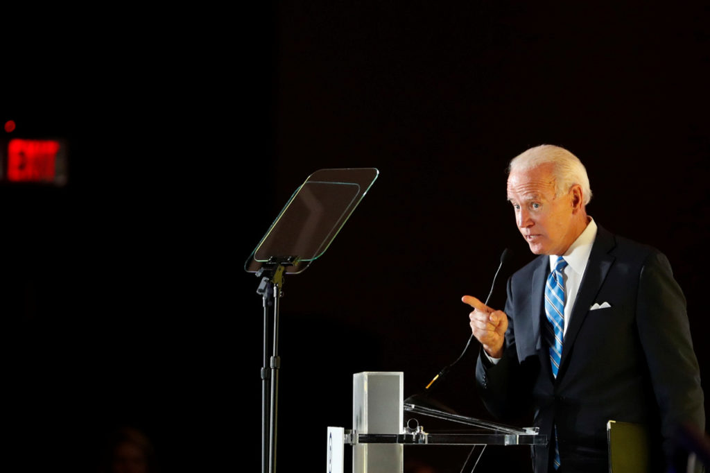 Biden faces pressure from centrist Dems worried about Warren's rise
