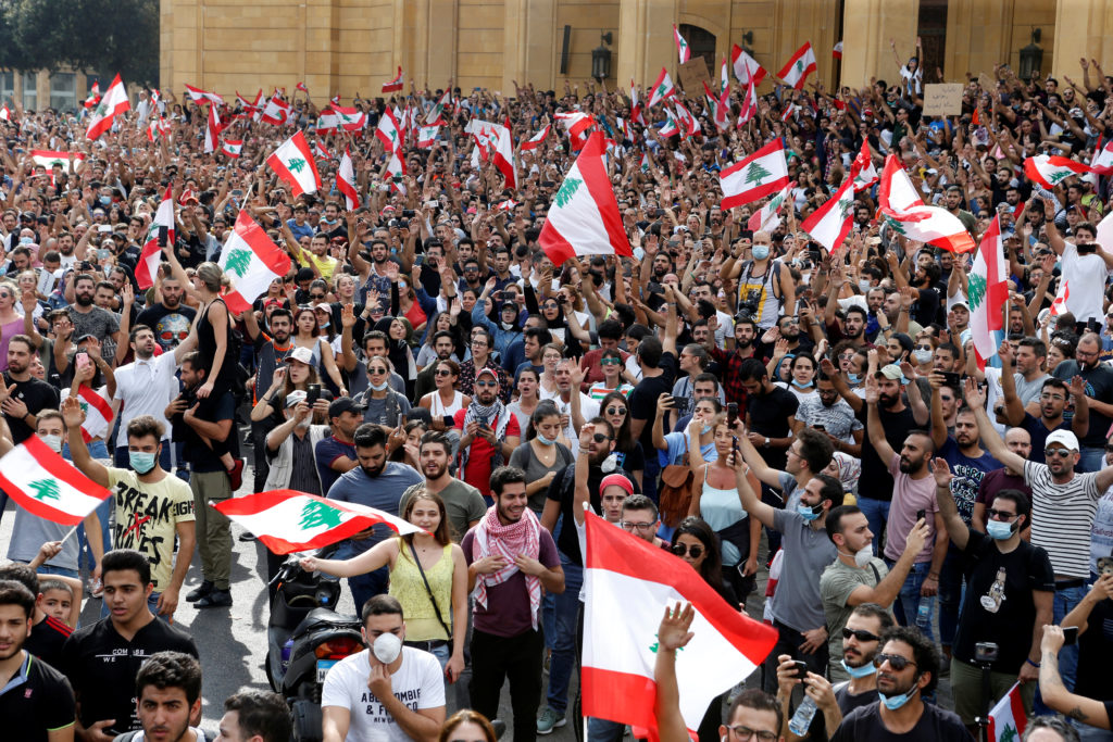 Lebanon paralyzed by nationwide protests over proposed taxes