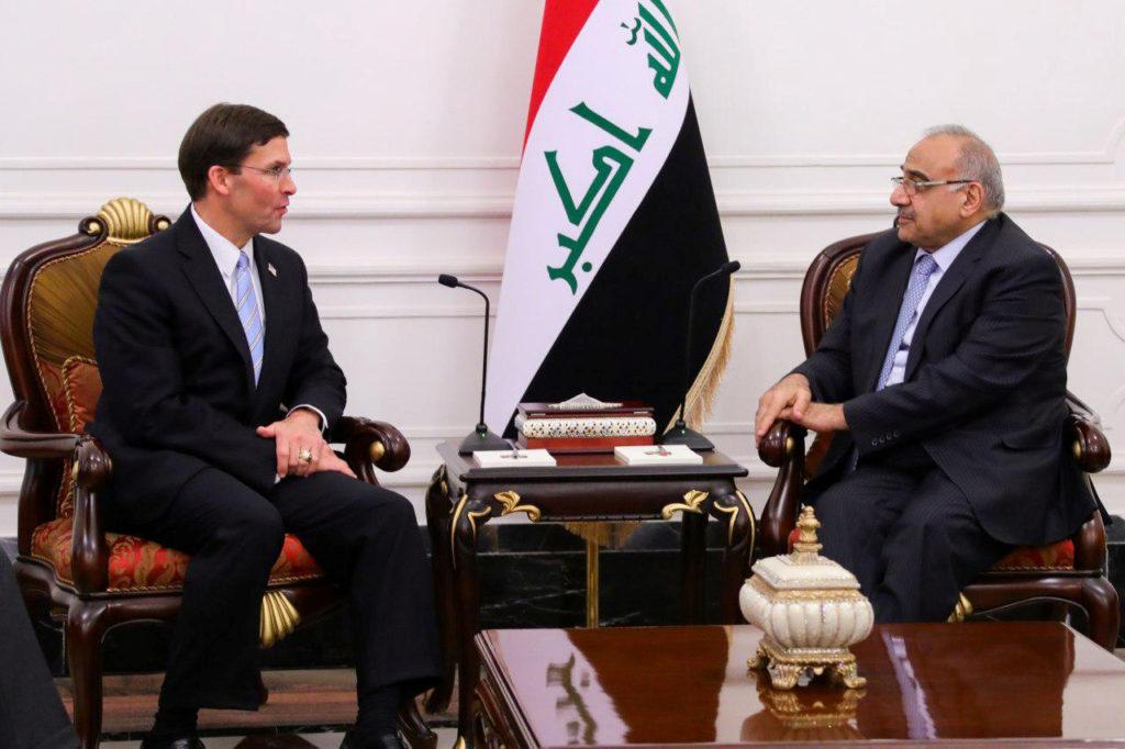 Iraqi Prime Minister Adel Abdul Mahdi meets with U.S. Defense Secre…