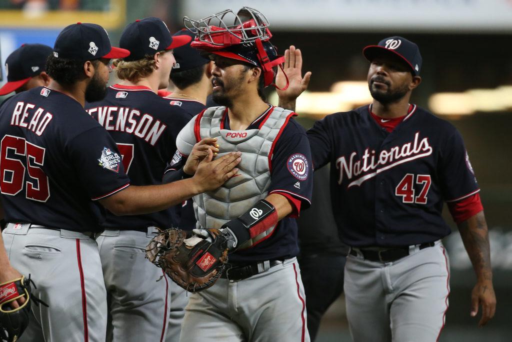 Oct 23, 2019; Houston, TX, USA; Washington Nationals catcher Kurt S…